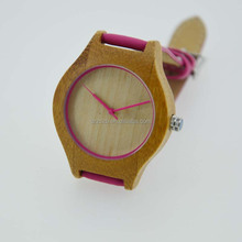 Bewell Hot Selling 2 years Warranty Japan Quartz Natural Wood Watch Handmade Hand Watch For Girl