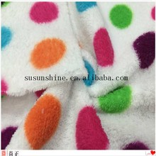 High Quality Short Pile Supersoft coral Fleece Fabric