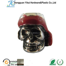 Dongguan YiKai skull beads wholesale,metal Chrome skulls, silver skull beads