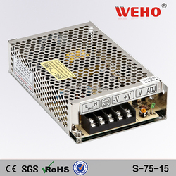 Single output industrial 15v customized switching power supply 75w