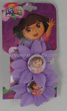 OEM-2PCS KIDS DORA FLOWER ON ELASTIC HAIR BAND
