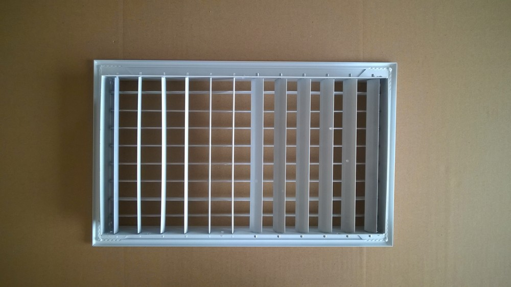 Double Deflection Grille With Damper : Aluminium adjustable double deflection supply air grille