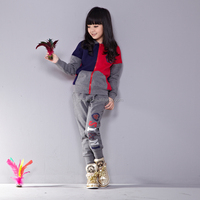 branded boys and girls sportwear suit trendy kids clothing wholesale