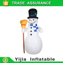 5' outdoor decoration giant inflatable snowman with broom Christmas snowman