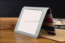 2015 New arrival wallet leather case Stripe ultra thin hand holding leather case for iPad mini
