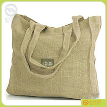 hot sale ! customized logo handled jute gunny packaging bag/recyclable burlap sack