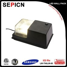 Factory price led wall washer DLC ETL Listed led wall pack light 60W with UL Mean Well driver 90LM/W IP65 led wall pack RGB