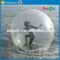 Inflatable walking water rolling ball pool water ball valve