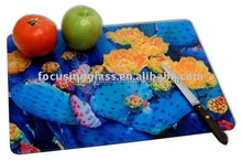 High quality round&square glass cutting board wtih FDA certicifation china manufacturer