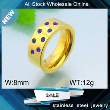 fashion gold plated blue diamond jewelry fashion half finger rings