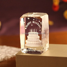 nice crystal 3d laser picture cube,3d laser etched glass cube