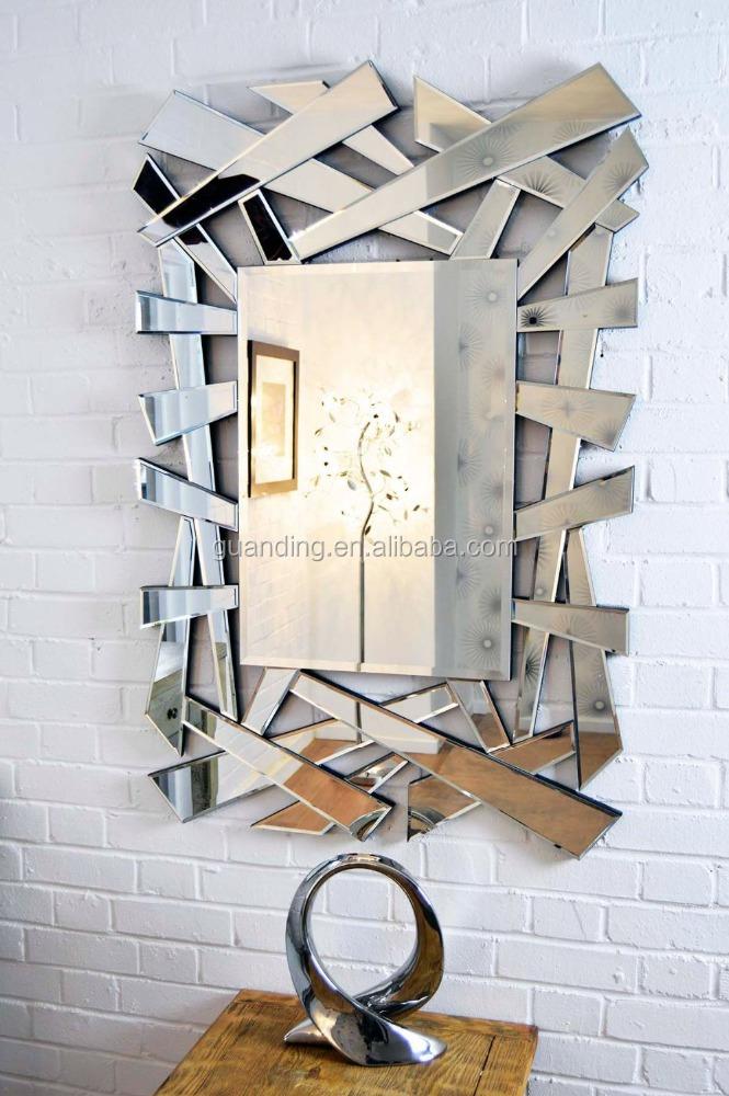 Large cheap modern hexagonal venetian wall mirror buy for Large wall mirrors cheap