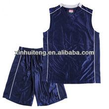 v neck royal blue 100% polyester men wholesale custom basketball team wear