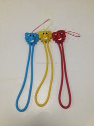 Cute animal silicone phone strap
