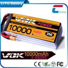 10000mAh 22.2V 25C 6S1P Lipo Battery Pack