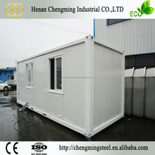 Flat Packed Recyclable Steady European Exported Steel Frame Mobile Home/20Ft Container House Ce
