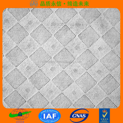 cross lapping viscose and polyester spunlace cleaning wipes nonwoven embossed fabric