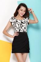 Slim summer dresses for women apparel charming Sexy Mature new fashion 2015 summer lady dress xxxl,4xl,5xl customize