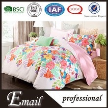 Fancy mattress cover home goods bedding set brand name flower printed comforter