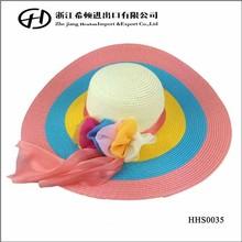 Zebra flat wide brim summer straw cap sexy Girls beach hats with lace flower