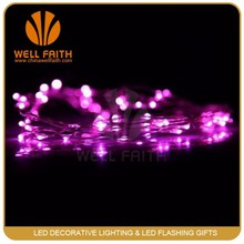 Pink 2M Original Copper Wire LED Starry Lights Strings Fairy Lamp Bedroom