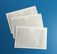 Self-Adhesive Clear Vinyl Business Card Pockets