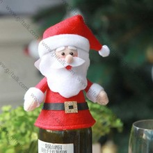 Competitive price christmas traditional decoration wine bottle holiday covers
