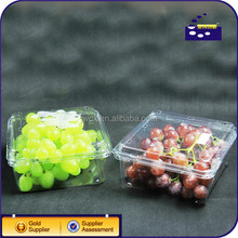 Food grade disposable blister plastic fruit packaging box for 300g cherry