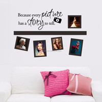 Removab Pictures the Memories Photo Frame Wall Decal Living Room vinyl wall Sticker for living room (GU7)