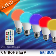 LED bulb RGB A60 4W remote controller led light