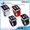 Dual Bluetooth MTK 2502 smart watch smartwatch with heart rate monitor with the spare leather strap