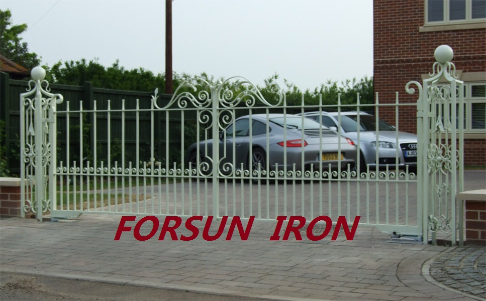 Wrought Iron Driveway Gate Design Iron Main Gate Designs