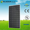 BlueSun CE/ISO/TUV/IEC certificate Chubb insurance A-grade high efficiency solar cells mono solar panel 270w