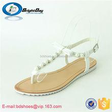 High quality fashion summer shoes girls flat sandals