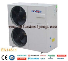 HISEER EN 1451 air source heat pumps with EVI, monoblock low temperature air to water heat pump