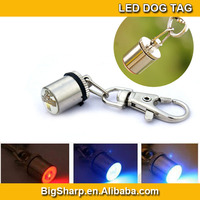 100pc UFO LED Dog Pendant Collar Puppy Safety ID tag Night Light Pet Dog Collar 6 Colors drop shipping & free shipping DP-003
