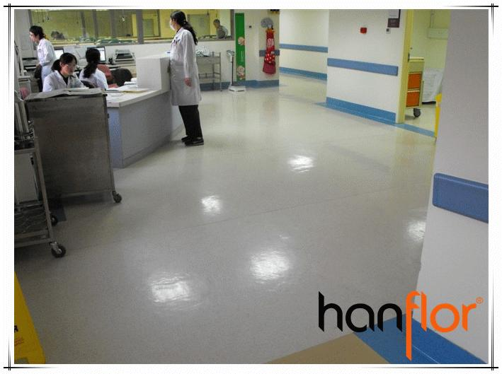 Antibactérien hôpital de vinyle feuille