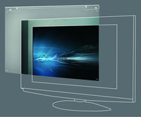 Top Quality Acrylic Anti-Glare/UV reflection TV Screen Protector With Diverse Sizes