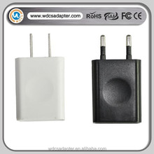 micro usb wall charger 5W 5V 1A USB mobile phone charger with CE,FCC,KC,ROHS Certificate