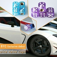 Crystal Dice Shape Tire Valve Cap Anti Dust Car Tire Valve Stem Caps Auto Accessories 7132