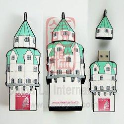 3D building usb, 3D Castle PVC usb flash drive