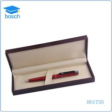 Stationery products gift boxes for pens red metal ball pen set