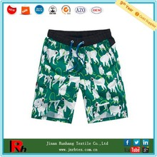 Custom breathable cotton/polyester men printed beach shorts