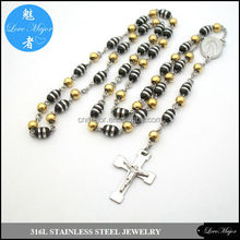 rocker's necklace stainless steel rosary chain of fashion jewellery MJCX-180
