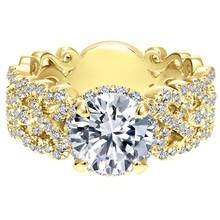 Yellow gold 18 carat diamond ring zirconia jewelry cooper ring