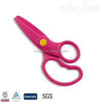 Safety plastic handle craft kids scissors