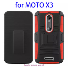 OEM Logo Branding Rugged Silicone and PC Case for Motorola Moto X3