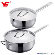16-20-24-28cm NO MOQ stainless steel saucepan /induction frypan / stainless steel large cooking pans