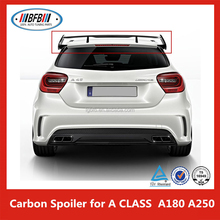 """Black 52"""" Carbon Light Weight Adjustable Double Deck Racing Spoiler Wing for B E N Z W176 A180 A250"""