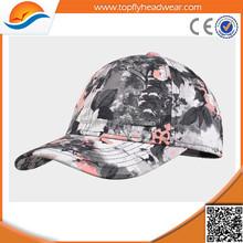 custom 6 panel snapback hats/wholesale floral snapback hat/ custom curve brim snapback cap and hat